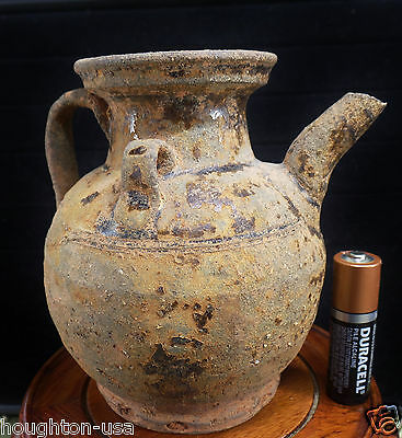 Ancient Chinese Song Dyn. Glazed Stoneware Wine Pitcher/Ewer. c. 960-1279 AD