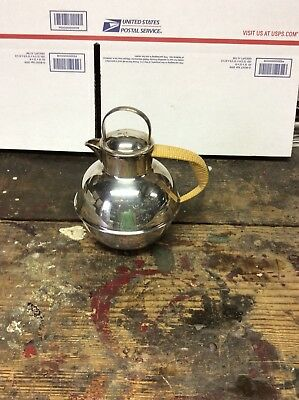 Silver Plate Teapot International Silver Co Coated Handle EGW&S Vintage 6 / 6