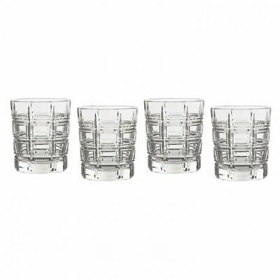 Waterford Marquis Crosby Double Old Fashioned Crystal Short Glasses Set of 4