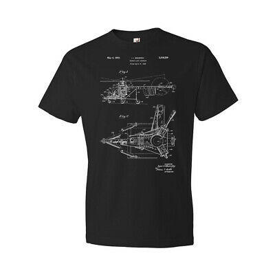 d977204f Sikorsky Helicopter Shirt Aircraft Blueprint Aviation Design Flying  Schematic