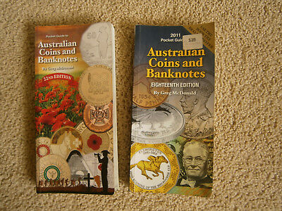 2 x Greg McDonalds coin & banknote books 18th & 22nd editions USED