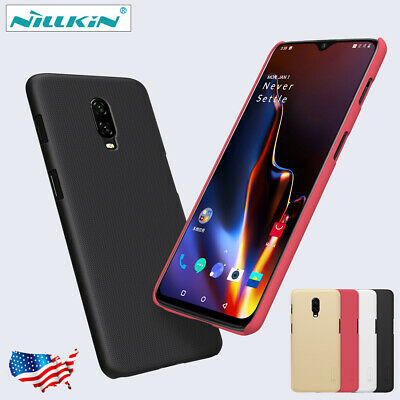 For OnePlus 6T Original NILLKIN Frosted Shield Shockproof Back Case Cover New US