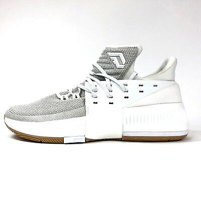 factory price 0ce07 8693e Adidas Dame 3 White Grey Gum BW0323 Mens Size 10.5 Basketball Shoes  DLillard NIB