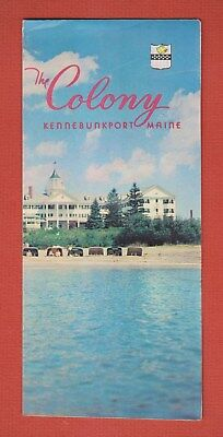 Rare 1960 The COLONY Resort Hotel KENNEBUNKPORT Maine ADVERTISING BROCHURE