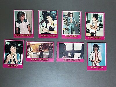 1975 Topps Bay City Rollers Lot Of 8 Trading Cards