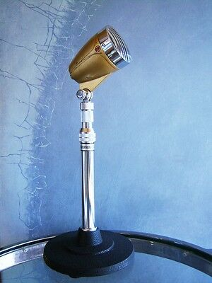 Vintage RARE 1950's Kent M-120 crystal microphone Japanese old w Lanier stand