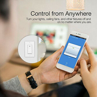 Smart In-Wall Light Switch LED WiFi Voice Control For Alexa Google Home IFTTT