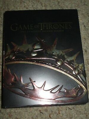 Game of Thrones: The Complete Second Season (Blu-ray Disc, 2014, 5-Disc Set) 2nd