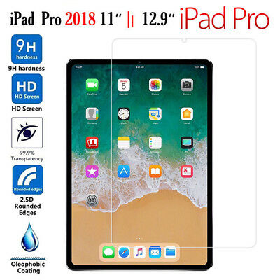 For Apple iPad Pro 2018 11inch/12.9 inch Clear Tempered Glass Screen Protector