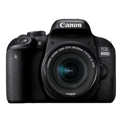 NUOVO Canon EOS 800D 24.2MP Fotocamera DSLR EF-S 18-55mm f/4-5.6 IS STM Lente