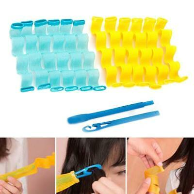 12Pcs Magic Leverage Curlers Former Spiral Styling Rollers Magic Hair Curler