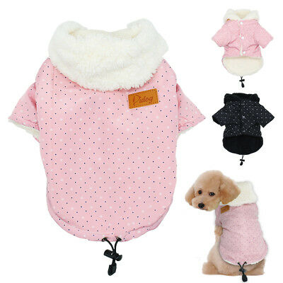 Winter Dog Clothes Warm Fleece Coat Pet Puppy Jacket Hoodie for Chihuahua Small