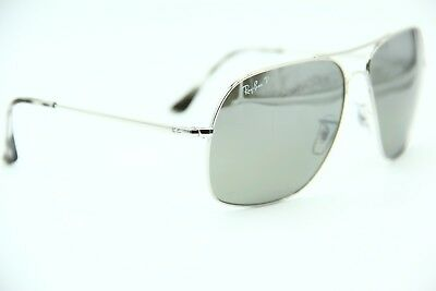 4ffa783974 Ray-Ban Rb 3587-Ch 003 5J Silver Sunglasses Authentic Frame Rb3587 61
