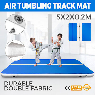 16.4Ft Air Track Floor Tumbling Inflatable Gym Mat Floor Pad Fitness Gymnastic