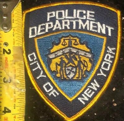 """New York City Police Dept NYPD NYC patch NY New Approximately 3 1/2 x 4 1/2"""""""