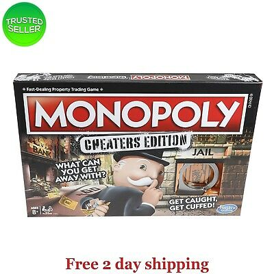 Hasbro Monopoly Game: Cheaters Edition Board Game FREE FAST SHIPPING
