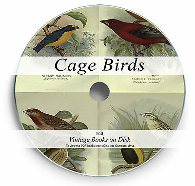 Rare Books on DVD - Cage Birds Aviary Parrot Canary Finch Budgie Mating Breed 60