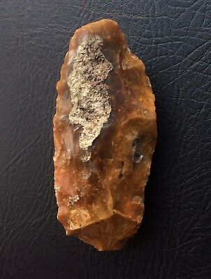 Superb British Paleolithic flint stone hand axe tool 13.4cm