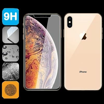For Apple iPhone XS Max XR X Front + Back 9H Tempered Glass Screen Protector