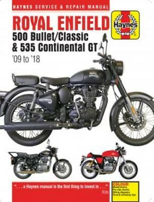 Haynes Manual Royal Enfield 500 Bullet/Classic & 535 Continental GT 2009-2018