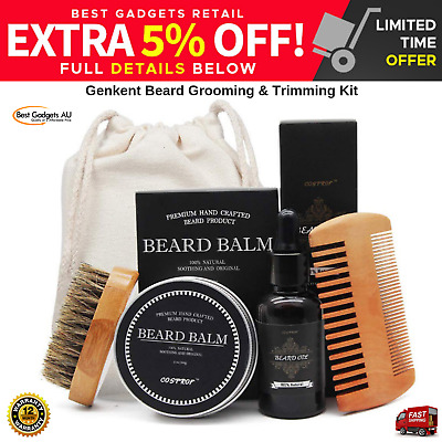 Beard Grooming & Trimming Kit Facial Styling Comb Tool Mens Whisker Care NEW