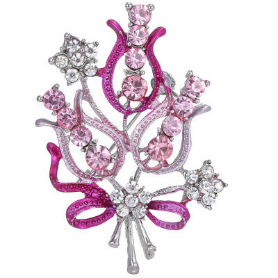 Women Fashionable Personality Alloy Water Drill Brooch Exquisite Flower Corsage