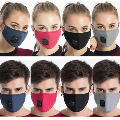 Unisex Anti Pollution PM2.5 Dust Mouth Mask  Washable Cotton Replaceable Filters