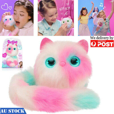 Surprise Pomsies Cat Plush Interactive Toys Cute Funny Toy Girl Kids Xmas Gift