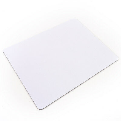 White Fabric Mouse Mat Pad High Quality 3mm Thick Non Slip Foam 26cm x 21c TH