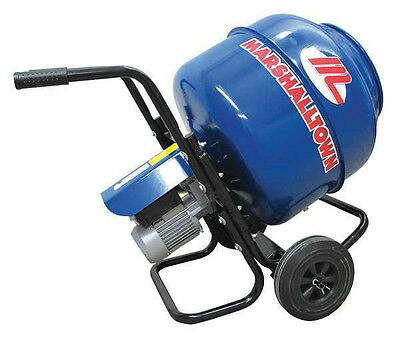NEW Marshalltown Electric Concrete Mixer, 3 CF Wheelbarrow Mixer, 1/2 HP
