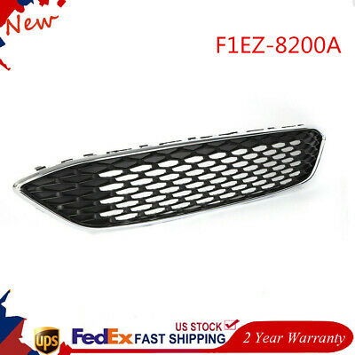 ABS Gloss Black Front Bumper Grille Replacement For Ford FocusS /&SE 2015 2016 2017 2018 Upper Center Grill Honeycomb Style Replace OEM#F1EZ-8200A F1EZ-8200B