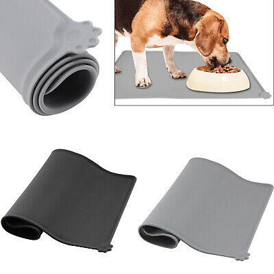 Cat Bowl Mat Dog Pet Feeding Water Food Dish Tray Wipe Clean Floor Placemat UK