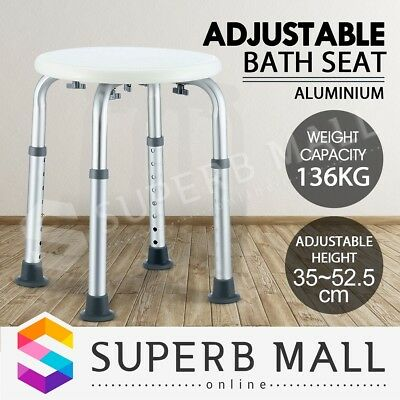 Aluminum Bath Shower Chair Stool Bathtub Aid Bench Seating Adjustable Height