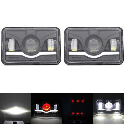 "2PCS 4""x6"" DOT Approved LED Headlights H4656 H4651 Sealed Headlamp for Jeep"