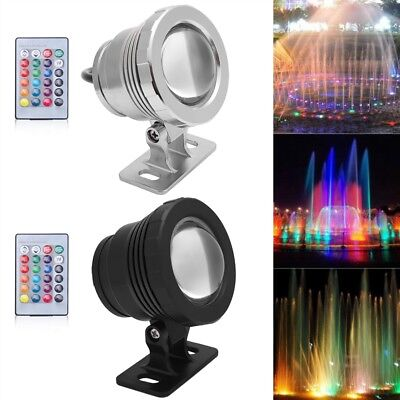 10W 9 LED RGB Underwater Light Submersible Pool Spa Fountain Pond with Remote SS