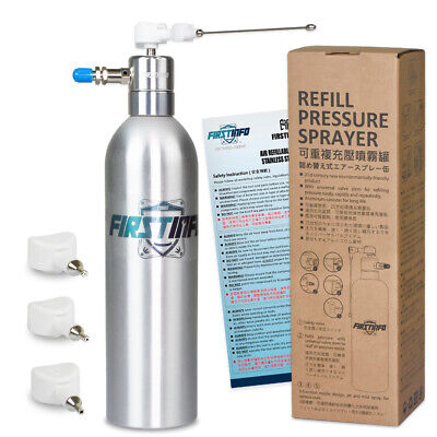 FIRSTINFO Aluminum Can Air Manual/Handy Refillable Sprayer with 4 pcs Nozzles