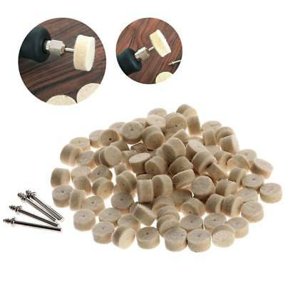 50pcs 13mm Wool Felt Polishing Wheel Buffing Pad + 4 Mandrels for Rotary Tool