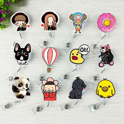 Cute 1PC Retractable Badge Reel Student Nurse Exihibiton ID Name Card Holder