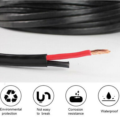 Twin Core Wire Cable 0.5mm~13mm Dual Insulated Auto Ute Trailer Van Marine Solar