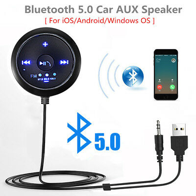 3.5mm USB Mini Bluetooth Aux Stereo Audio Music Car Adapter Receiver Handsfree