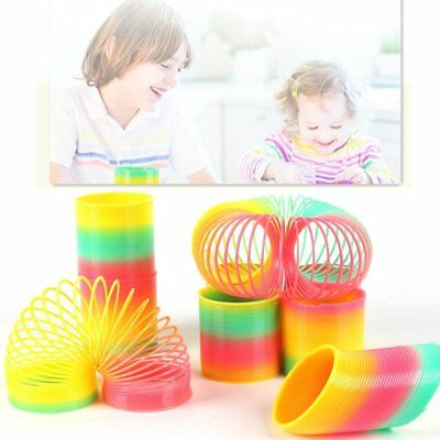 8.5CM RAINBOW SPRING COIL SLINKY FUN KIDS TOY MAGIC STRETCHY BOUNCING Xmas Gift