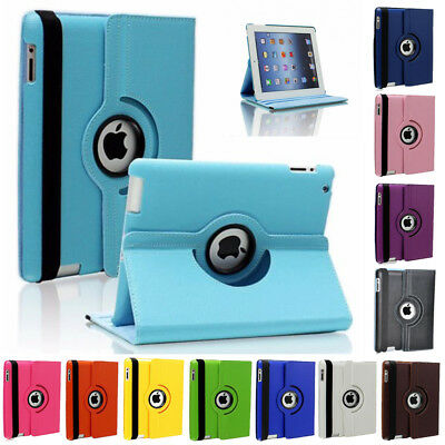 For Apple iPad mini Air 360 Rotating Magnetic PU Leather Smart Stand Case Cover