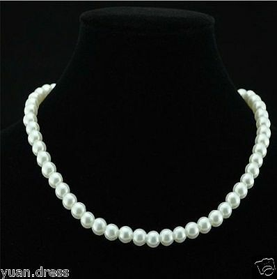 New Arrival Fashion Women's White Pearl Necklace Jewelry Pendant Statement Pearl