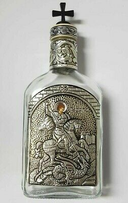 Weihwasser Flasche für 200 ml Ikone Hl. Georg Holy Water bottle icon St.George