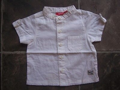 BNWNT Baby Boy's Sprout White Short Sleeve Cotton Shirt Size 00