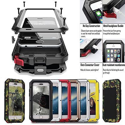 Shockproof Aluminum Gorilla Metal Glass Metal Case Cover for iPhone XR 8/6S Plus
