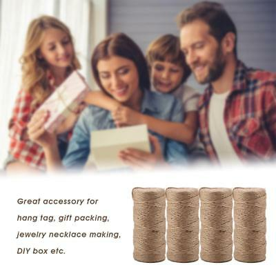 100m/roll Natural Jute Burlap Hemp Rope Twine String Cord Rope Party Decorations