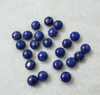 25 Pcs Great Lot Natural LAPIS LAZULI 6x6 mm Round Cabochon loose Gemstone