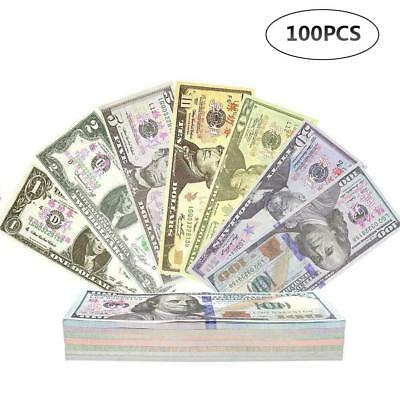 100pcs NOVELTY DOLLARS: BULK DISCOUNTS - Fake/USA/Play/Money/Fun/Pretend/Prop UK