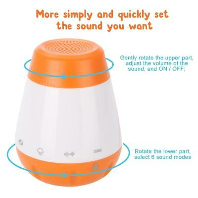 Portable Deep Sleep White Noise Baby Sound Therapy Machine Solution 6 Peace USB